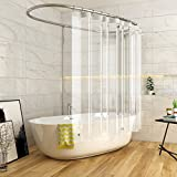 #10: Shower Curtain liner, Heidelpeggy Shower Curtain, Mildew Resistant, Non Toxic, Eco-Friendly, No Chemical Odor, Self-reinforced Grommets (no metal, no rusting) Antibacterial PEVA 4 Gauge, 72x72