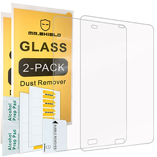 ([2-Pack]-Mr.Shield for ASUS ZenPad Z8s (ZT582KL) [Tempered Glass] Screen Protector [0.3mm Ultra Thin 9H Hardness 2.5D Round Edge] with Lifetime Replacement)