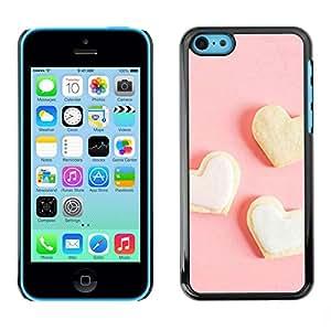 PC/Aluminum Funda Carcasa protectora para Apple Iphone 5C Three white heart / JUSTGO PHONE PROTECTOR