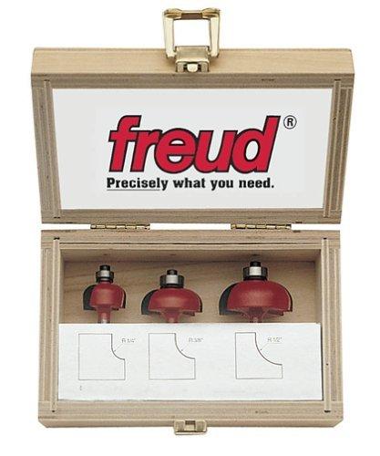 Freud 89-550 3-Piece Cove Router Bit Set - Classical Moulding Router Bit