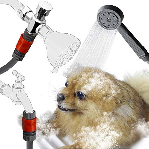 YOO.MEE Dog Shower Attachment, In-Door and Out-Door Quick Connect for Easy and Fast Washing Pets, Bathing Child