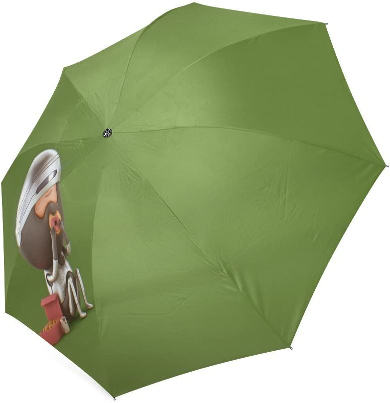 Wofox Fashion Custom Robocop Enjoying The Doughnuts Foldable Travel Umbrella