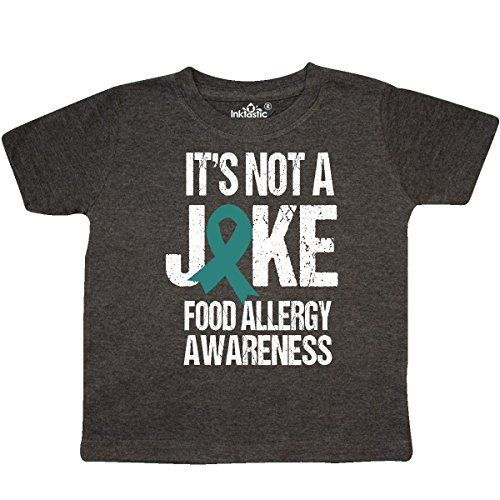 inktastic Its not a Joke Food Allergy Toddler T-Shirt 2T Retro Heather - Allergies Food Toddlers