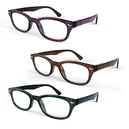 Primary Optics Classic Ladies Oval 46mm Reading Glasses, Pink, Orange, Teal - Glasses Face Oval For Shape Best