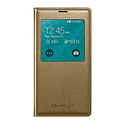 samsung galaxy s5 copper gold. samsung galaxy s5 s view flip cover case - retail packaging copper gold
