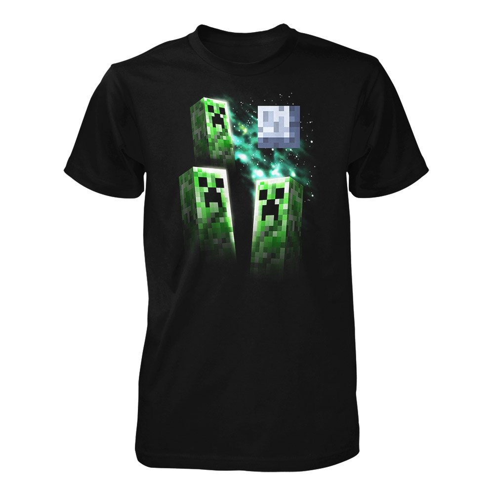 JINX Minecraft Big Boys Three Creeper Moon T-Shirt