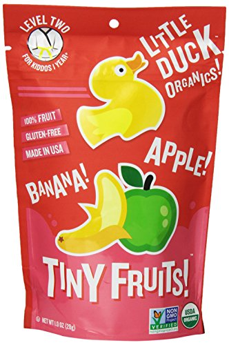 Little Duck Organics Tiny Fruits - Apple & Banana - 1 oz