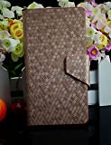 Diamond Veins Luxury PU Leather Flip Stand With Card Slot Wallet Case Cover For Vodafone Smart 4 Mini (Gold)