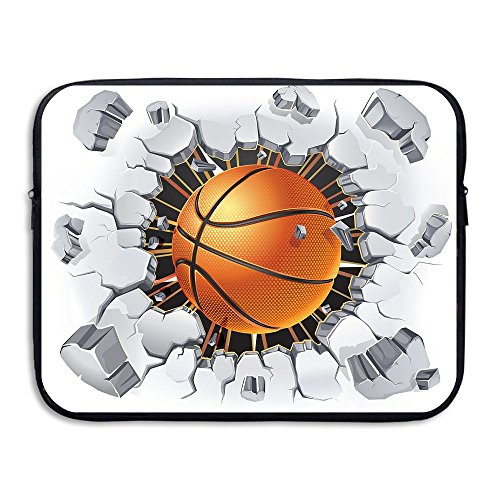 Price comparison product image Mr.Roadman Laptop Sleeve Bag Basketball Tearing Cement Ground Art Briefcase Sleeve Bags Cover Notebook Case Waterproof Computer Portable Bags