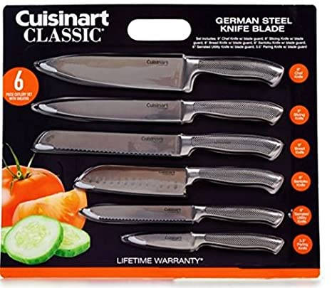 Attractive Amazon.com: Cuisinart Classic 6pc German Stainless Steel Knives With Blade  Guards: Kitchen U0026 Dining