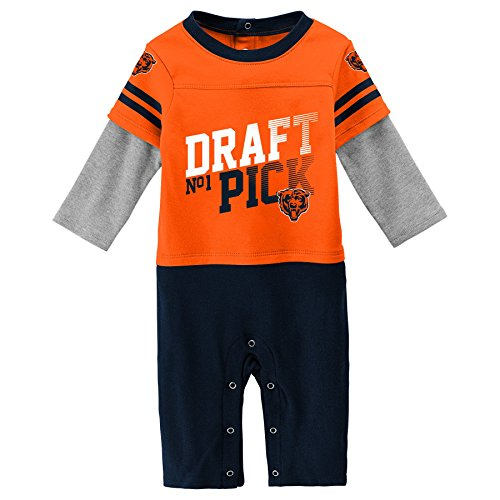 NFL Chicago Bears Newborn & Infant Draft Pick Long Sleeve Coverall Orange, 18 Months