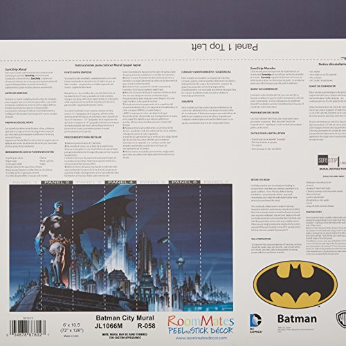 RoomMates Batman Prepasted, Removable Wall Mural - 6' X 10.5' by RoomMates (Image #1)