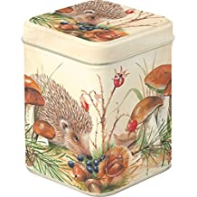 "Boston International DOD605400 Nosy Little Hedgehog Tea Tin, 3"""