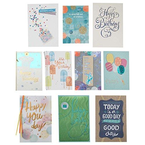 Hallmark Birthday Cards Assortment (10 Cards with -