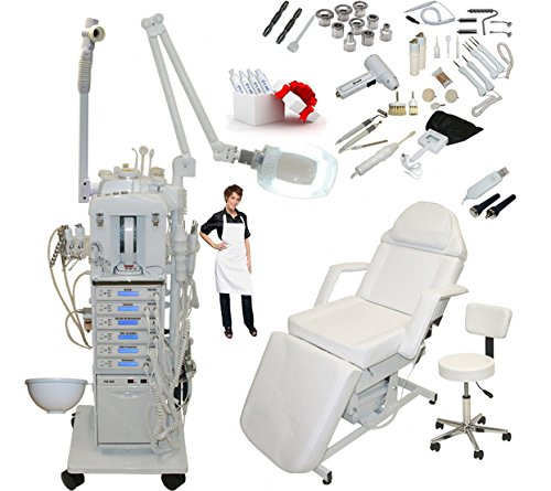 17 in 1 Elite Series Multifunction Diamond Microdermabrasion Facial Machine & Adjustable Electric Bed Table Chair Salon Spa Beauty Equipment