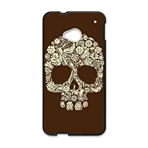 HTC One M7 Cell Phone Case Black Sugar Skull Cover jogq