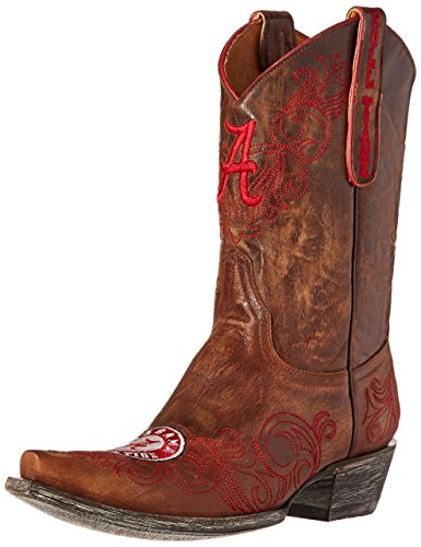 NCAA Alabama Crimson Tide Women's 10-Inch Gameday Boots, Brass, 8.5 B (M) US