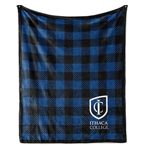 Venley NCAA Ithaca College Bomber Fleece Blanket, 50