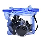 Coromose Digital Camera DSLR Case Underwater Pouch Bag For Canon for Sony (Blue)