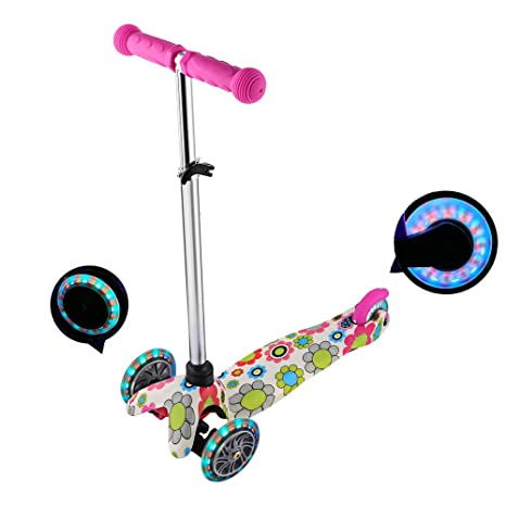 Amazon.com: Moroly Kids Scooter 2 Wheel Kick Scooter LED ...