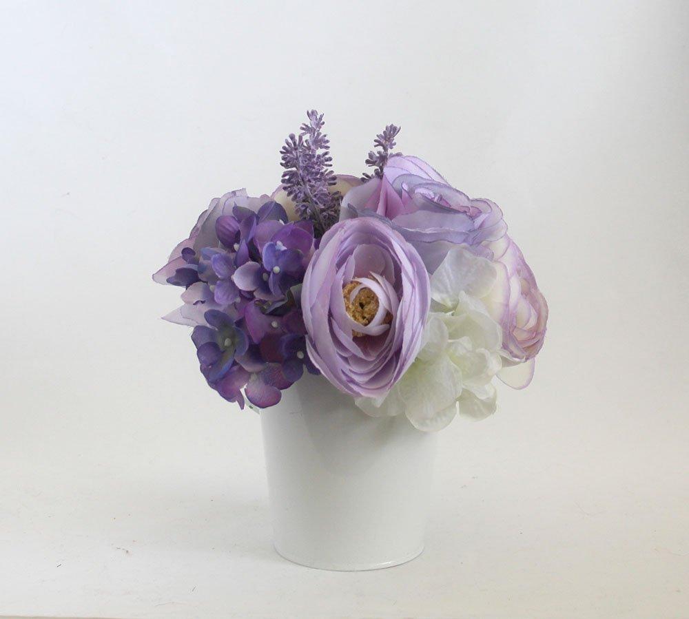 Lavender Rose arrangement, Spring table Centerpiece, Home Decor, Spring flowers, silk flower arrangement, Mother's Day gift, summer flowers, Home Decor, wedding flowers Mother's Day gift