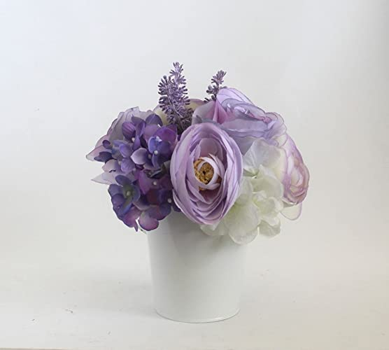 Amazon lavender rose arrangement spring table centerpiece lavender rose arrangement spring table centerpiece home decor spring flowers silk flower mightylinksfo