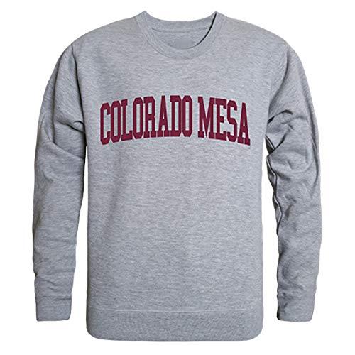 Colorado Crew Sweatshirt - W Republic Colorado Mesa University Mavericks NCAA Men's Game Day Crewneck Fleece Sweatshirt - Medium, Heather Grey