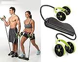 Sungpunet Men Woman Fitness Abdominal Trainer Revoflex Xtreme ABS Workout Kit Resistance Bands Exercise Multifunction Crossfit Exercise