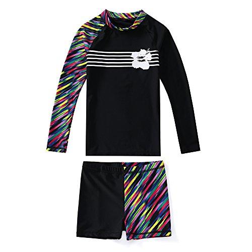 KID1234 Swimsuits for Girls - Long Sleeve Girls Swimsuits, Two Piece Swimsuits for Girls 5-12 Years (8) by KID1234