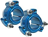 Set of 2 - Blue 1'' Rear Lightened Aluminum Racing Wheel Hubs Go Karts Drift Trikes
