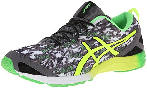 Asics Mænds Gel Hyper Triathlon Løbesko Sort / Flash Gul / Flash Grøn u6smnBY