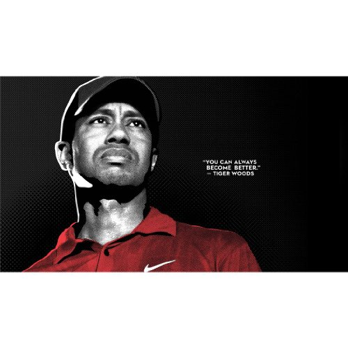 Tiger Woods Poster by Silk Printing # Size about (107cm x 60cm, 43inch x 24inch) # Unique Gift # 9FC33D by Monty Arts (Image #1)