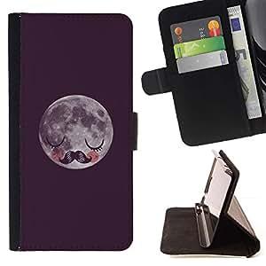 Momo Phone Case / Flip Funda de Cuero Case Cover - Moustache couchage - Huawei Ascend P8 (Not for P8 Lite)