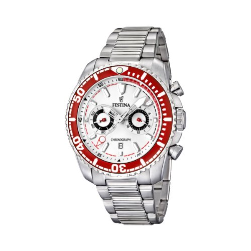 Amazon.com: Festina Mens Stainless Steel White Dial Date Chronograph Watch F165641: Festina: Watches