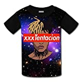 Youth Casual Xxxtentacion 3D Printed T-Shirts Short Sleeve Tops Tees for Boy's Girl's S