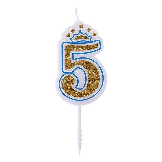 Fewxdsad - Velas de cumpleaños para niños, diseño de Corona ...
