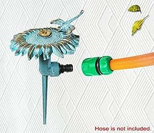 Brass Sunflower with Dragonfly Sprinkler