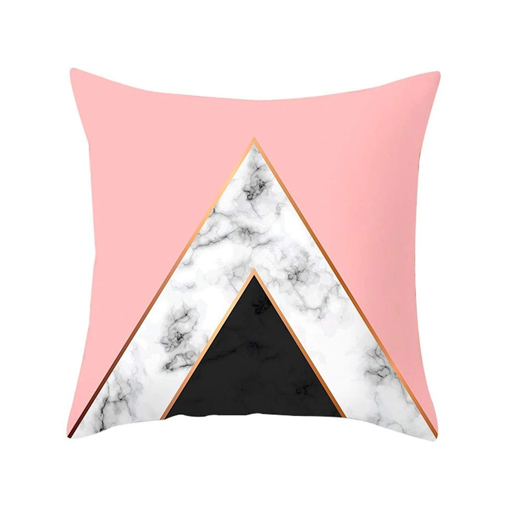 Pet1997 Multicolor Geometric Marble Texture Throw Pillow Case, Super Soft Pillowcase, Cushion Cover, Sofa Home Decor, Luxury Bedding,18 X18 Inch (H)