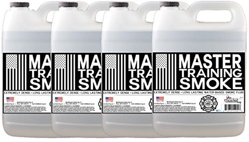 Master Training Smoke - Extremely Dense - Long Lasting - Water-Based Smoke Fluid - 4 Gallon Case