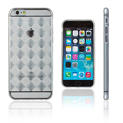 Xcessor Checkered Diamond Ajedrezado Diamante Lustroso Funda Carcasa de TPU Gel Flexible para Apple iPhone 6 Plus/6S Plus....