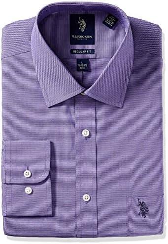 ایالات متحده چوگان Assn. پیراهن پیراهن یقه پیراهن یقه معمولی مناسب نوار مردانه
