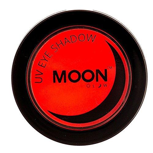 Moon Glow - Blacklight Neon Eye Shadow 0.12oz Red - Glows brightly under Blacklights / UV Lighting! -