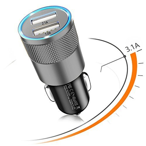 Sngg Car Charger,3.1A Rapid Dual Port USB Car charger for iPhone/ iPad / Samsung. by Sngg (Image #1)