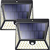 Neloodony Solar Lights Outdoor 82 LEDs, Motion Sensor Lights with Wide Angle Lighting, IP65 Waterproof Wireless Security Lights for Garage Driveway Garden Step Stair Pathway-2 Pack (Auto On/Off)