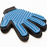 Best Pet Grooming Brush Glove - For Long Short Or Curly Hair Comb - Premium Gentle Massage Tool And Hair Removal For Dogs Cats - Professional Pet Deshedding Grooming Glove For Healty Coat - Misterrmar