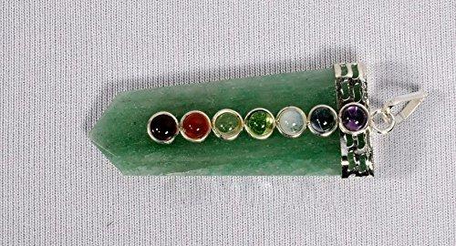 - Jet Green Aventurine Flat Chakra Pendant 2 inch Approx. A++ Top Grade Jet International Healing Spiritual Divine India Crystal Therapy Geometry