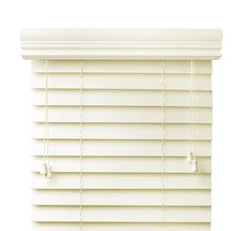 f97ccfc5a897d Amazon.com: Premium 2 inch faux wood blinds, Off White, 35 1/2 x 60 ...