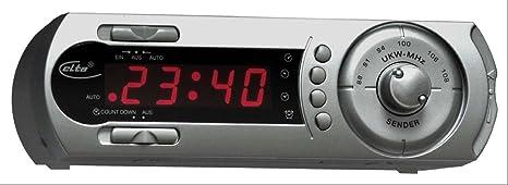 Elta 4250 N taparis-Radio reloj de base (FM-sintonizador, antena,