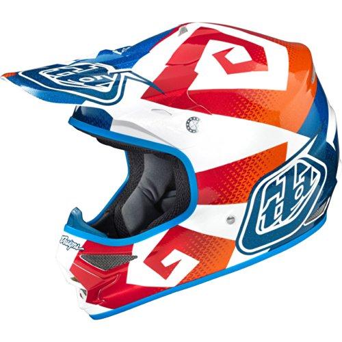 Troy Lee Designs Vega Air Motocross/Off-Road/Dirt Bike Motorcycle Helmet - Blue/Orange / Medium (Troy Lee Dirt Bike Helmet)