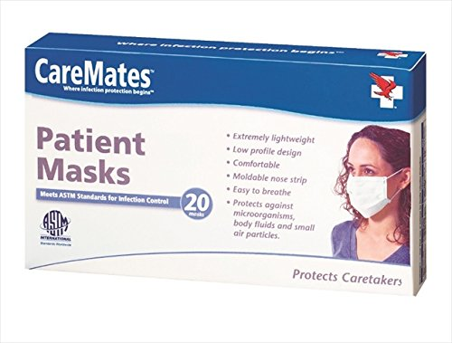 CareMates 20711820 Earloop and Patient Mask, Count 20, Case Of 25